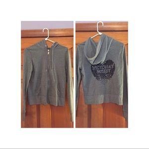 Vicki's grey hoodie